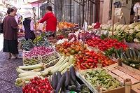 イタリア シチリア島 パレルモ カーポの市場