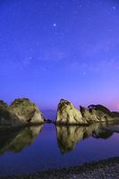 岩手県 浄土ヶ浜と天の川