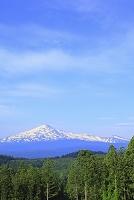秋田県 由利本庄市 鳥海山と雲 朝方