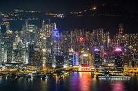 中国 香港 夜景