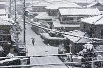 大阪府 堺市 雪景色の住宅街