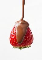 イチゴにチョコレート