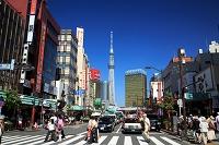 東京都 浅草の街並と東京スカイツリー