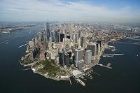 アメリカ マンハッタン島 空撮