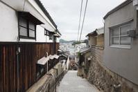 広島県 千光寺新道の石畳の坂道