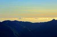 青森県 白神山地 日本海 雲海