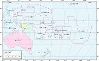 オセアニア 行政区分図
