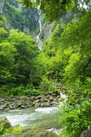 北海道 銀河の滝 大雪山国立公園 日本の滝百選 層雲峡 石狩川