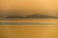 兵庫県 淡路島より夕映えの播磨灘と小豆島