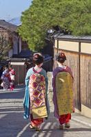 京都府 道を歩く舞妓 日本の文化