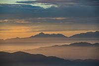 朝焼けの南アルプス甲斐駒ケ岳