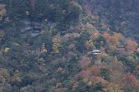 鳥取県 三徳山 三仏寺 展望所より投入堂・地蔵堂・文殊堂