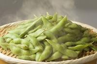 茹で上がった枝豆