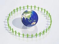 手を繋いで地球を囲む