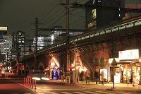 東京都 新橋レンガ造り高架橋の夜景