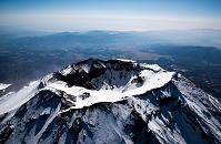 山梨県 富士山 山頂付近(高度4,000m)より箱根方面