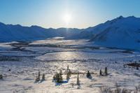 カナダ トゥームストーン準州立公園の山並み