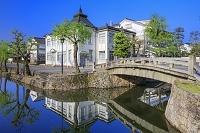 岡山県 倉敷川と中橋と倉敷館