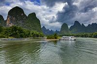 桂林漓江下り 黄布倒影 広西チワン族自治区 中国
