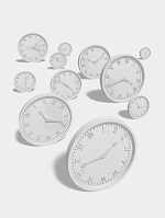 時計のモノクロ