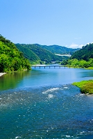 高知県 仁淀川と名越屋沈下橋