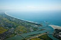 遠州灘の海岸線(太田川河口より御前崎方面)