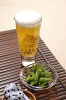 枝豆とビール(発泡酒)