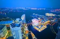 神奈川県 ランドマークタワーから横浜の夜景