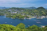 長崎県 展海峰展望台より佐世保市街地 船越町方向を望む