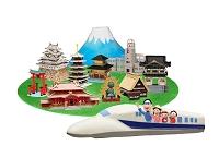 新幹線で日本観光
