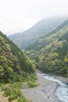 安倍川 上流 V字谷