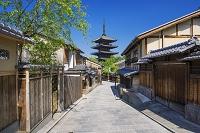 京都府 八坂通りより八坂の塔 法観寺