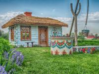 ポーランド カラフルな小屋