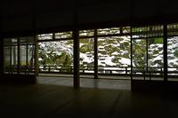 京都府 雪景色の常照皇寺 庭園