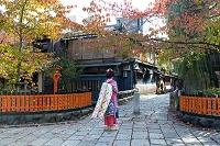 祇園白川巽橋を歩く舞妓