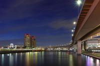 東京都 有明より高速台場線 夜景