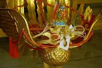 滋賀県 多賀大社神楽庫の御神輿の鳳凰