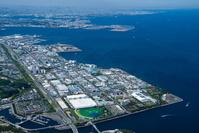 横浜機械工業団地、横浜化学工業団地周辺より横浜港