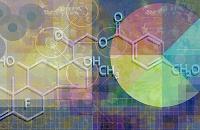 円グラフと化学記号