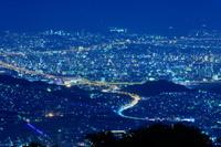 福岡県 米の山展望台から福岡の夜景