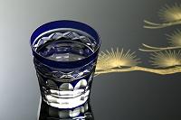 切子ガラスと日本酒