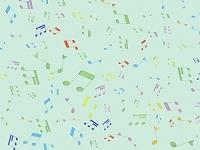たくさんのカラフルな音符