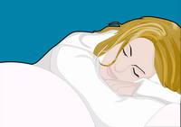 イラスト 眠る女性