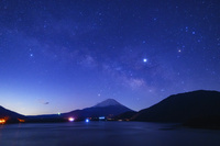 山梨県 富士山と天の川