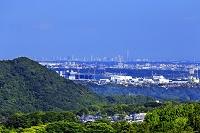 神奈川県 宮ヶ瀬ダムから望む横浜市街