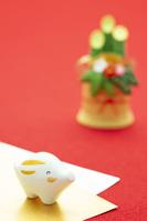 イノシシと門松 干支のクラフト
