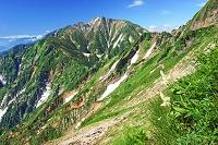 長野県 八方尾根から五竜岳(中央の山)