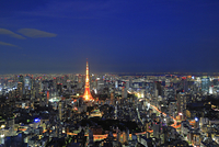 東京都 六本木ヒルズより東京タワー方面 夜景