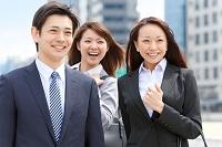 笑顔ののビジネスチーム
