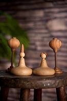 木製お雛様人形とぼんぼり